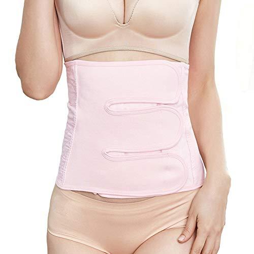 LSRRYD Cinturón de entrenamiento de cintura para mujer posparto con soporte lumbar, cinturón de espalda inferior después del parto para mujeres adelgazante (color: rosa, tamaño: XL)