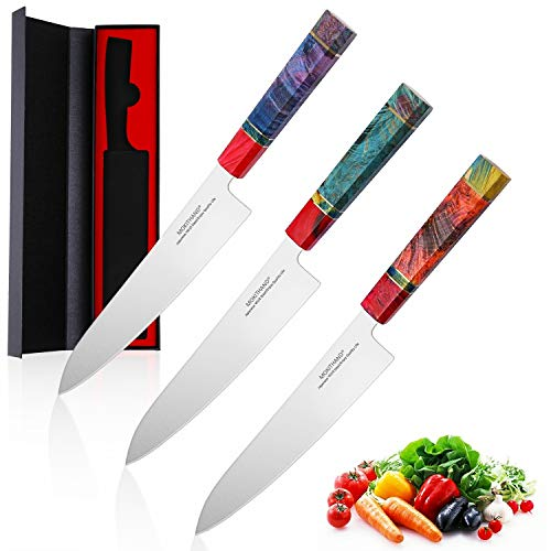 Juego de cuchillo 1pcs 240MM VG10 cocinero cuchillo afilado japonés cuchillos de cocina profesional de 9 pulgadas de acero inoxidable de pescado Carne Cuchillo for el hogar (color al azar)