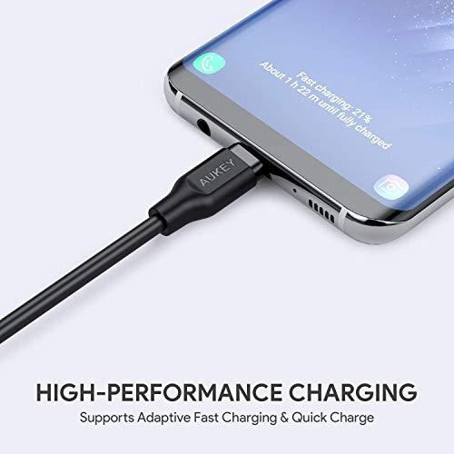AUKEY Cavi USB C a USB 3.0 A ( 1m x 3 ) Cavo USB Type C Ricarica e Trasmissione Dati per Samsung Note 9 8 S10 S10+ S10e S9 S8, HUAWEI P30 P20, Macbook Pro, iPad Pro 2018, Google Chromebook - Nero