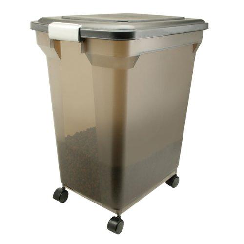 IRIS Premium Airtight Pet Food Storage Container, 22-Pounds, Smoke