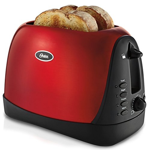 Oster 6307 Inspire 2-Slice Toaster, Metallic Red
