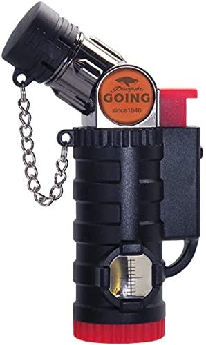 ペンギン ゴーイング(Penguin Going) ガスバーナー ミニバーナー 4段階 可変タイプ ガス 注入式 PG-6 ブラック