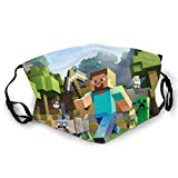 KRR Min-ecraft Unisex Face Mask 3d Printing Breathable Face Cover Women Bandana Anti Air Dust For Running