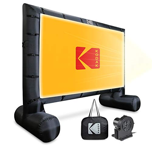 KODAK Inflatable Outdoor Projector Screen | 14.5 Feet, Blow-Up Screen for Movies, TV, Sports Games & More | Includes Air Pump, Storage Carry Case, Stakes, Repair Patches