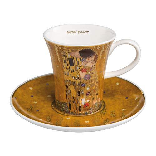 Goebel - Der Kuss - Espressotasse mit Untertasse - Bone China Porzellan - Gustav Klimt 0,1 l