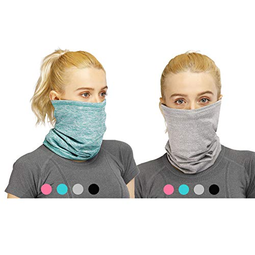 17 PCS Neck Gaiter with Filter Pockets Cooling Headband Bandanas Women Kids