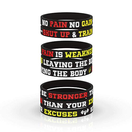 AMPM Collective | Silicone Motivational Wristbands | Rubber Inspirational Quote Bracelets | Unisex for Men Women Teens | for Daily Gym Workout Perseverance and Exercise Motivation (12)
