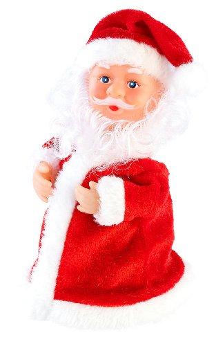 infactory Weihnachtsmann beweglich: Singender, Tanzender Weihnachtsmann Rocking Santa, 16 cm (Swinging Santa)