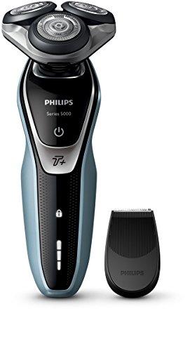 Philips SHAVER SERIES 5000Rasierer (Rotation Shaver, schwarz, silber, Akku, Li-Ion), Eingebaut, 50min)