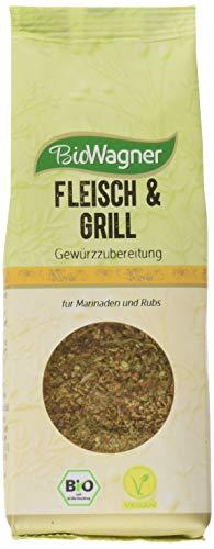 Bio Wagner Fleisch & Grill Gewürzzubereitung aus kontrolliertem Anbau, 4er Pack (4 x 75 g)