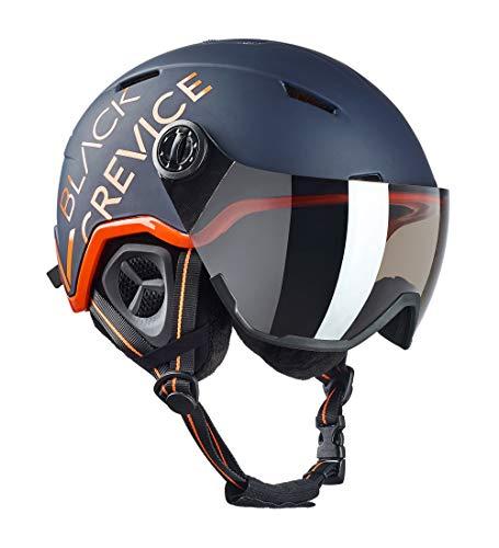 Black Crevice Casco de esquí Unisex para Adultos Vail con Visera, Azul...