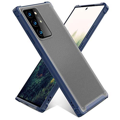 YATWIN Antichoc Coque Compatible pour Samsung Galaxy Note 20 Ultra, Mate Translucide Anti-Empreintes, Protection Complète du Corps Anti-Chocs Coque pour Samsung Note 20 Ultra 5G 6.9 pouces, Bleu Foncé