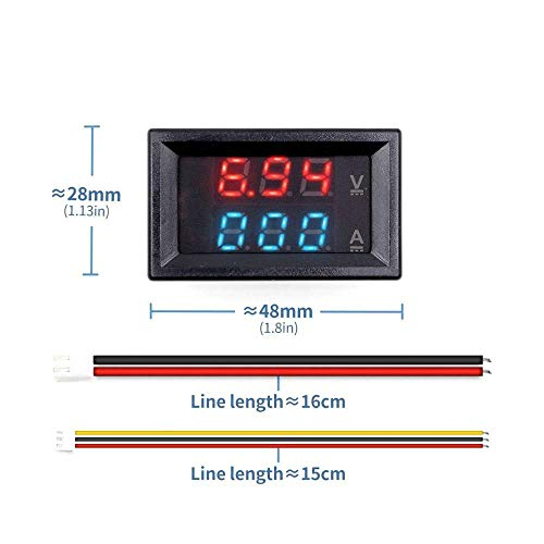 Review Mini Digital Voltmeter Ammeter DC 100V 10A Panel Amp Volt Voltage Current Meter Tester 0.28 ...