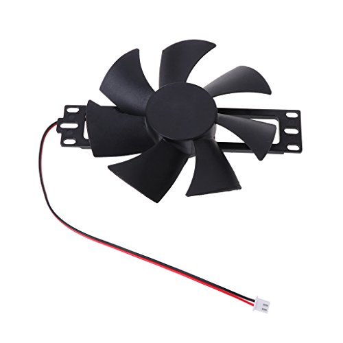 luosh Ventilador de enfriamiento, Ventilador de Cocina DV 18V Ventilador sin escobillas de plástico para Accesorios de reparación de Cocina de inducción