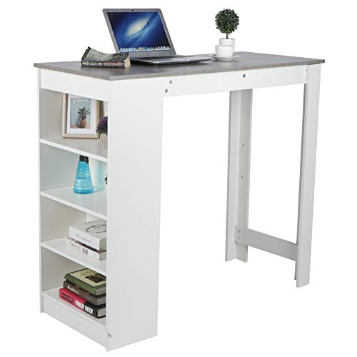 Computer Desk,Laptop Table with Side Drawers Wooden Computer Desk Laptop Workstation, Multi-Functional Spacious Modern Stylish