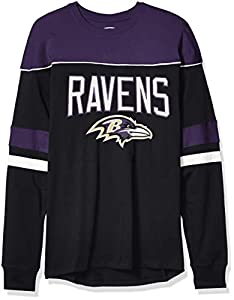 OTS NFL Baltimore Ravens Men's Division Long Sleeve Tee, Division, Large