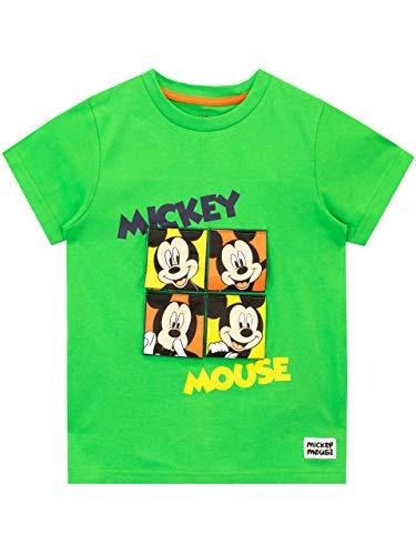 Disney - T-Shirt - Mickey Mouse - Garçon - Vert - 18-24 Mois