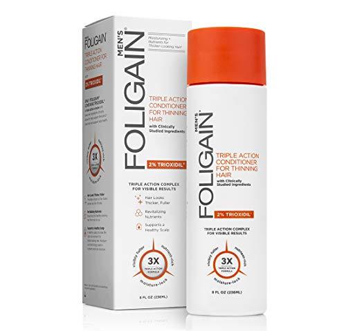 Foligain - Balsamo per la ricrescita dei capelli, per uomo, con 2% di Trioxidil