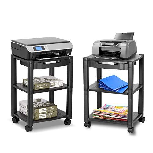 Halter LZ-308 - Carrito de impresora con ruedas, soporte para impresora pequeña con almacenamiento...