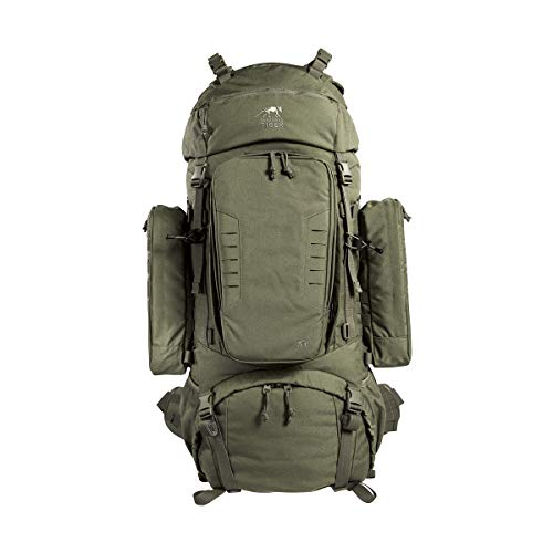 Tasmanian Tiger TT Range Pack MK II 90+10 Trekking-Rucksack Molle-Kompatibel mit abnehmbarem Daypack-Rucksack, Oliv