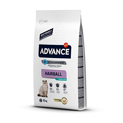 ADVANCE Hairball Pienso para Gatos Esterilizados - 10Kg