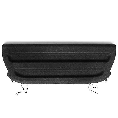 Cargo Cover Compatible With 2015-2019 Honda Fit | Tazz Style Unpainted Black PU Rear Tonneau Security Cover Non Retractable by IKON MOTORSPORTS | 2015 2016 2017
