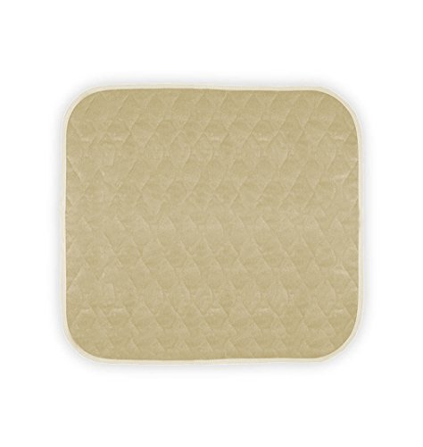 """Americare Absorbent Washable Waterproof Seat Protector Pads 21""""x22"""" -Almond"""