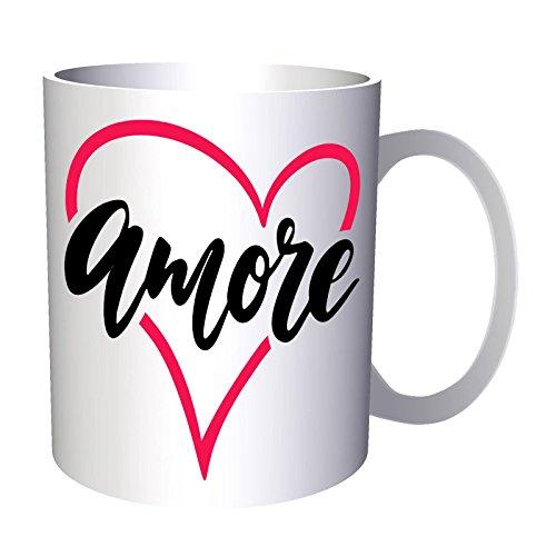 Amore Amour Coeur 33 cl Tasse v793