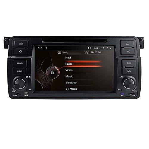 LYHY Reproductor Multimedia para Coche Android 10 Reproductor de DVD Navegación GPS OS Quad Core 1024 * 600 HD Pantalla táctil Radio de Coche Compatible para BMW Serie 3 E46 M3 318320325330335
