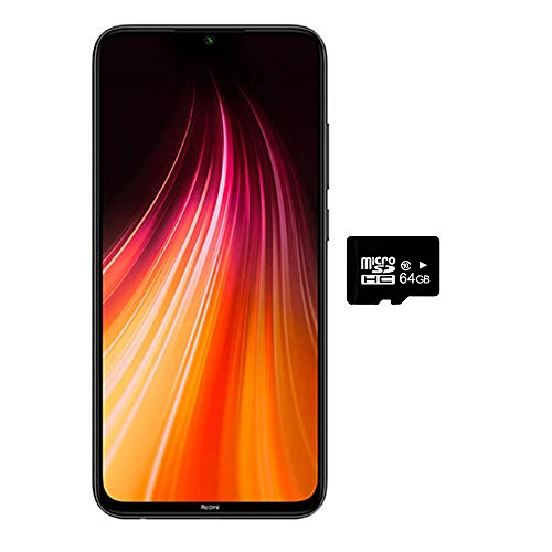 Xiaomi Redmi Note 8 (128GB, 4GB) 6.3',Quad Camera, Dual SIM GSM Factory Unlocked - US & Global 4G LTE International Version (Space Black, 128GB + 64GB SD + Case Bundle)