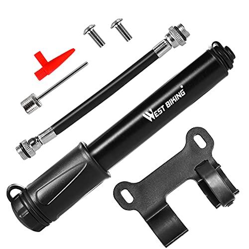 FORMIZON Mini Bomba Portátil para Bicicleta, Mini Bomba de Bicicleta Carretera Bomba de Bicicleta Pequeña, Bomba de Bicicleta 100 PSI Universal Presta y Schrader, para Bicicletas, Pelotas y Moto
