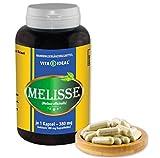 VITAIDEAL ® Melisse (Melissa officinalis) 180 Kapseln je 380mg, aus rein natürlichen Kräutern, ohne Zusatzstoffe von NEZ-Diskounter