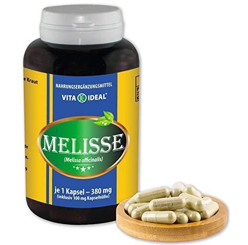 Vita Ideal® Melisse (Melissa officinalis) 90 capsules van elk 380 mg, van zuiver natuurlijke kruiden, zonder additieven