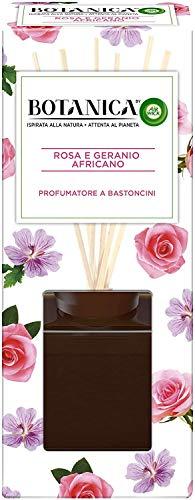 Airwick Botanica, Profumatore per Ambienti con Diffusore a Bastoncini, fragranza Rosa e Geranio Africano, fragranza naturale - Confezione da 80 ml