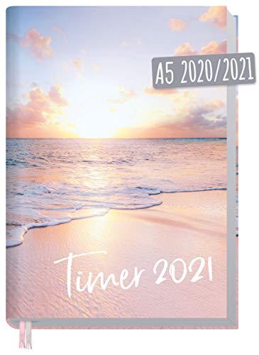 Chäff-Timer Classic A5 Kalender 2020/2021 [Traumstrand] Terminplaner 18 Monate: Juli 2020 bis Dez. 2021   Wochenkalender, Organizer, Terminkalender mit Wochenplaner - nachhaltig & klimaneutral