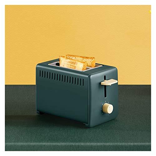 WANGYIYI Tostadora de Desayuno Multifuncional Tostadora automática 2 rebanadas Slots Hogar Toast Slice Sandwich Pequeño Desayuno Máquina (Color : Green)
