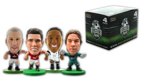 SoccerStarz 4 Figurine Blister da Olanda Internazionale Stars in Kit di Club con Van Persie / Krul / de Guzman e Ron Vlaar