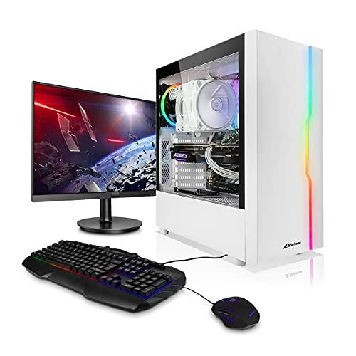 """Megaport PC-Gaming PC-Completo Intel Core i5-10400F • Schermo LED 24"""" • Tastiera/Mouse • GeForce GTX1650 • 16GB DDR4 • Windows 10 • 500 GB M.2 SSD • pc da gaming pc fisso desktop pc assemblato completo gaming"""