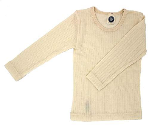 Cosilana, Kinder Unterhemd Langarm, 45% KBA Baumwolle, 35% kbT Wolle, 20% Seide (104, Natur)