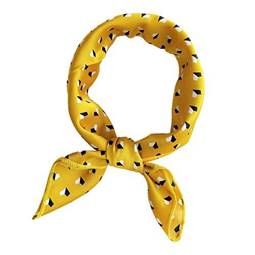 Bontand Pequeño cuadrado de las mujeres multifunción bufandas de seda de raso Chales flaco retro del lazo del pelo bolso de la manija de la cinta Pañuelos señoras de la oficina pañuelo para el cuello