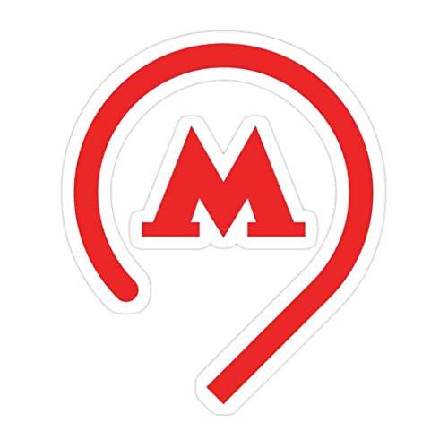 (3 PCs/Pack) Moscow Metro Symbol Die-Cut Stickers Decals for Laptop Window Car Bumper Helmet Water Bottle