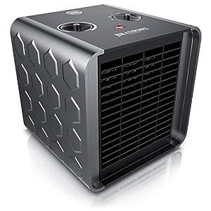 Brandson - Calefactor cerámico 1500 vatios - Calentador con 2 niveles de calefacción - Control de temperatura - Termostato - Bajo consumo - Función Ventilador - Bastante silencioso - Fusible térmico