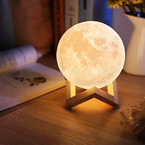 FZFR Lámpara de luna recargable para regalo de cumpleaños, con control táctil, regulable, para niños, madres, hijas, amigos (10 cm)
