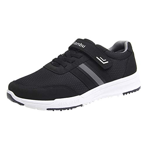 Sunenjoy Homme Chaussures de Sport Respirantes Plein Air Sneaker Running Shoes pour Trail Entraînement Course Gym Fitness Jogging Basket Athlétique Compétition Plein Air Rayures Extérieures