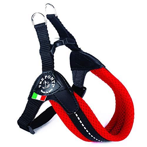 TRE PONTI - Pettorina classica per cani, misura 3, colore: Rosso