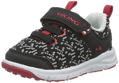 viking Veil, Zapatillas de Deporte Exterior Unisex niños, Negro y Rojo 210, 23 EU