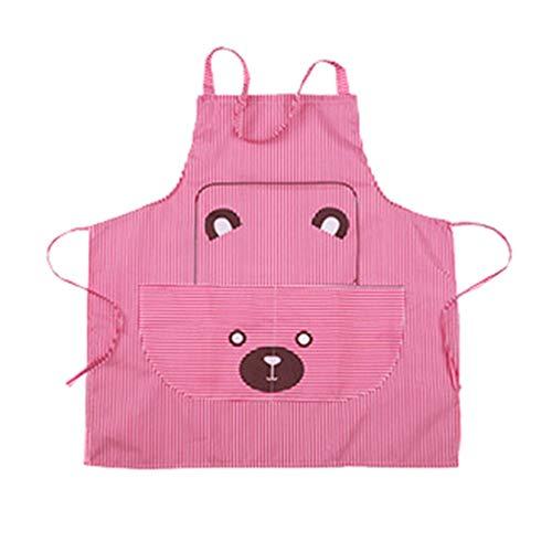 YTJ eenvoudige beer schort koken ambachten keuken chefs werkkleding heldere streep creatief