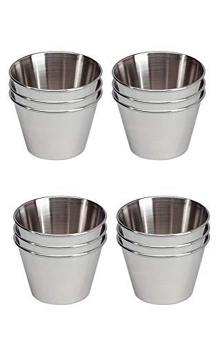 EUROXANTY® Formen| Aus rostfreier Stahl | für Nachtische und Gebacke | Ø7 cm | 12-teiliges Set