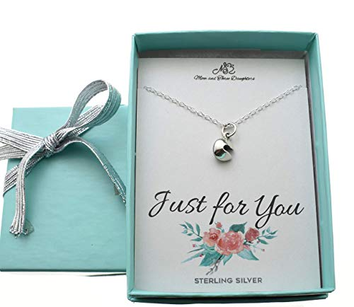 Fortune Cookie Necklace in Sterling Silver on a 14 sterling Silver Cable Chain. Fortune Cookie