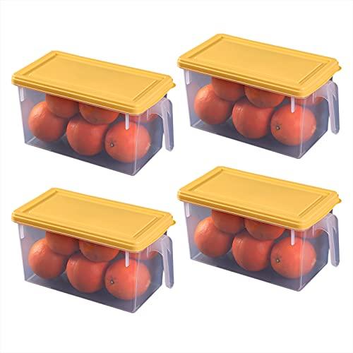 Nevera Recipiente Organizador De Alimentos, Recipientes De Plástico Reutilizables, Portátiles Apilables Contenedores De Almacenamiento Para Guardar Frutas